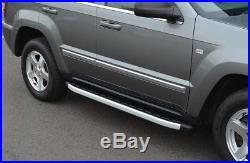 Aluminium Side Steps Bars Running Boards To Fit Jeep Grand Cherokee (2005-11)