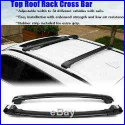 Aluminium Top Roof Rack Cross Bar Lockable 180KG For Jeep Grand Cherokee 2014-17