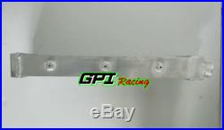 Aluminum Turbo Intercooler 550x140x70mm Delta Fin Design One Sided 2 in/outlet