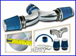 BCP BLUE 99-04 JEEP Grand Cherokee 4.7L V8 Dual Twin Air Intake System + Filter