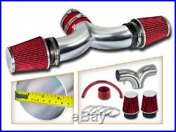 BCP RED 99-04 JEEP Grand Cherokee 4.7L V8 Dual Twin Air Intake System + Filter
