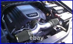 BLACK 2005-2010 Grand Cherokee Commander 5.7L/6.1L V8 Dual Twin Air Intake Kit