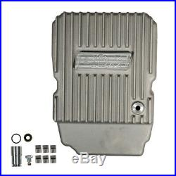 B&M 10300 Finned Cast Aluminum NAG-1 Deep Transmission Pan Charger Jeep +3 Quart