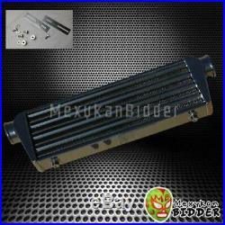 Black 2'' Aluminum FMIC Plate Front Mount Turbo Intercooler 27'' x7'' x2.5