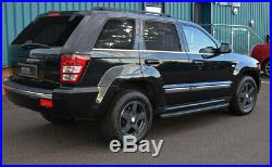 Black Aluminium Side Steps Bars Running Boards To Fit Jeep Grand Cherokee 05-11
