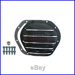 Black Aluminum Differential Cover Dana 44 Rear JeepWrangler IH Scout 10 Bolt Fin