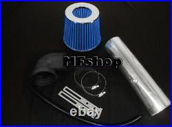 Black Blue For LONG 1997-2004 Jeep Cherokee Grand 4.0L I6 Air Intake + Filter