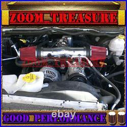 Black Red Dual 1999-2004 Jeep Grand Cherokee/laredo 4.7l V8/ho Air Intake Kit