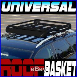 Blk Aluminum 50 Roof Rack Rail Basket Cargo Bag Utility Gear Kit Container SC3