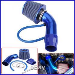 Blue Air Intake Kit Pipe Diameter 3 Cold Air Intake Filter+ Clamp+ Accessories