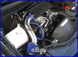 Blue For 2005-2010 Jeep Grand Cherokee Commander 3.7L V6 Air Intake + Filter