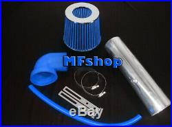 Blue For LONG 1997-2004 Jeep Cherokee Grand 4.0L I6 Air Intake Kit + Filter