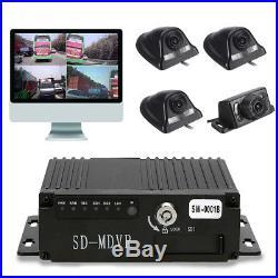 Car 4Ch Mobile DVR SD-MDVR 3G GPS 130M Realtime Video Recorder+Camera Remote Kit