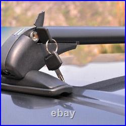 Car Luggage Rack SUV Crossbar Roof Rail Baggage Carrier Anti-theft Universal
