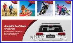 Car Roof Rack Cross Bars for 2011-2020 Jeep Grand Cherokee Aluminum Black