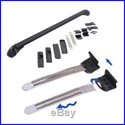 Car Roof Rail Luggage Rack Baggage Carrier Aluminum Black with Lock &Key 110cm Kit