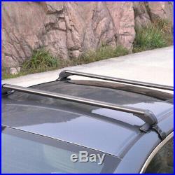 Car Roof Rail Luggage Rack Baggage Carrier Aluminum Trim Lock Key 110cm Durable