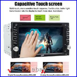 Double Din 6.2 Car Radio Stereo DVD Player GPS Navigator Touchscreen BT+Camera