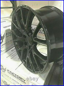 Fits 22 9 Hellcat Style Gloss Black Wheels Rims 99 20 Jeep Grand Cherokee