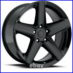 Fits 22 X 10 WK1 SRT8 Gloss Black Wheels Rims For WK2 Jeep Grand Cherokee