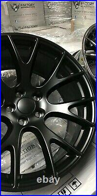 Fits 22 x 9 Satin Black Hellcat Style Wheels Rims 99 20 Jeep Grand Cherokee