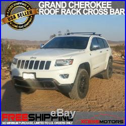 For 11-18 Grand Cherokee OE Style Roof Rack Cross Bar Luggage Key Lock Black