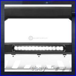 For 2005-2010 Grand Cherokee/Commander Matte Blk/Skid AVT Aluminum LED Bull Bar