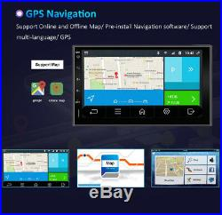 For Universal Car Radio Android 10.0 GPS NAVI Touch Screen DAB+ OBD2 4G+WIFI USB