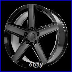 Jeep Grand Cherokee SRT8 Style Wheel 20x9 +34 Gloss Black 5x127 5x5 (QTY 1)