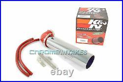 K&n+red 1991-2004 Jeep Cherokee/grand 2.5l I4 4.0l I6 Air Intake Kit 2