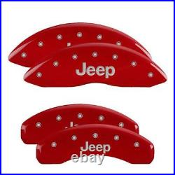 MGP Front/Rear Aluminum Red Brake Caliper Covers For 11-20 Jeep Grand Cherokee