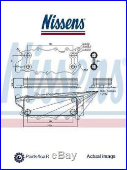 New Oil Cooler Engine Oil For Mercedes Benz Jeep Chrysler G Class W461 Nissens