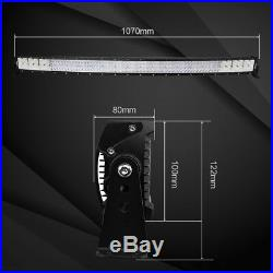OSRAM 42inch 5152W Led Work Light Bar Curved Quad Row Truck Driving Lamps+Wiring