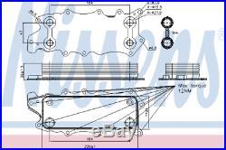 Oil Cooler 90784 for MERCEDES-BENZ MERCEDES-BENZ Class R R 280 CDI HQ