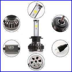 Pair H7 72W 8000LM LED Headlight Bulbs LED RGB Multi-Color Car Fog Lights lamp
