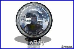 Passend für 05-10 jeep Grand Cherokee Nummernschild Vorne Stange + Rund LED Spot