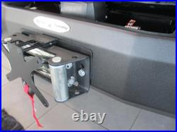 Quick Release Front License Plate Off Road Bumpers with Roller Fairlead for Jeep