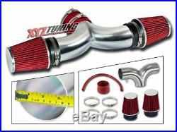 RED 2002 2003 2004 Grand Cherokee 4.7 V8 Dual Twin Air Intake Kit + Filter 3.5