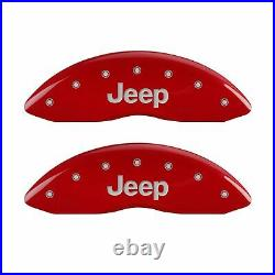 Red JEEP Grill Caliper Covers for 2011-2020 Jeep Grand Cherokee by MGP