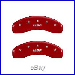 Red MGP Caliper Covers for 2011-2019 Jeep Grand Cherokee withBRY