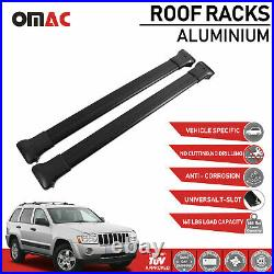 Roof Rack Cross Bars Luggage Carrier Black for Jeep Grand Cherokee 2005-2011