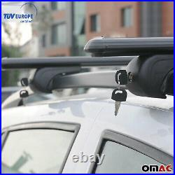 Roof Rack Cross Bars Luggage Carrier Black for Jeep Grand Cherokee WJ 1999-04