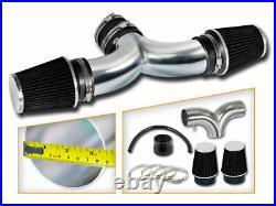 Short Ram Air Intake Kit+BLACK Filter for 00-02 Durango Dakota 4.7L V8 Dual Twin