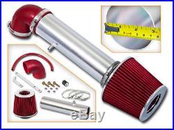 Short Ram Air Intake Kit + RED Filter for 97-04 Cherokee/Grand Cherokee 4.0L L6