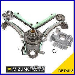 Timing Chain Kit JTEC Oil Pump Fit 99-02 Dodge Ram 1500 Durango Dakota Jeep 4.7L