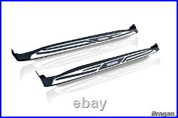 To Fit 2014+ Jeep Grand Renegade Polished Aluminium Side Running Boards Steps