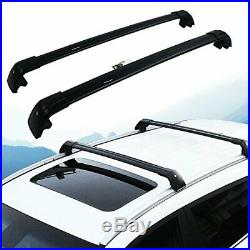 Top Roof Rack Fits Jeep Compass 2008-2020 Luggage Crossbar+Wind Deflector
