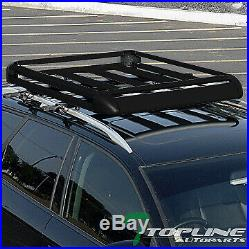 Topline For Jeep 50 Aluminum Roof Rack Rail Basket Luggage Storage Carrier -Blk
