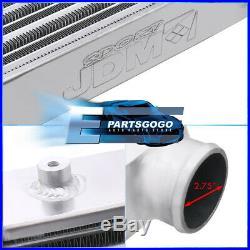 Universal 25X11.75X3 Tube & Fin Front Mount Fmic Intercooler Turbocharge JDM