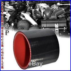 Universal 2.5 Aluminum 8Pcs Turbo Intercooler Piping Pipe Kits+Bolt Clamp Black